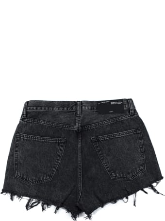Off-White Denim Shorts In Dark Grey