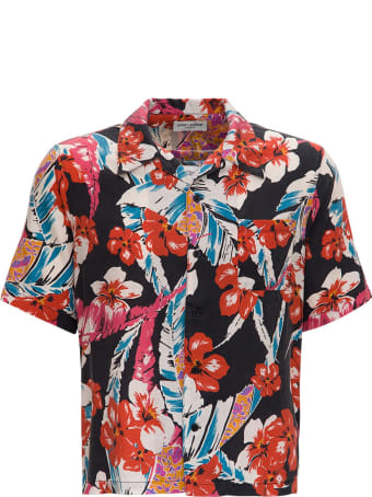 Saint Laurent Lyocell Multicolor Hawaiian Shirt