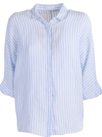 Robert Friedman striped linen shirt
