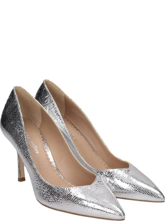 The Seller Pumps In Silver Leather
