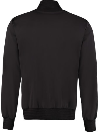 Dolce & Gabbana Patch Detail Full-zip Sweatshirt