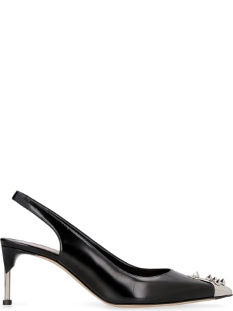Alexander McQueen Leather Pointy-toe Slingback