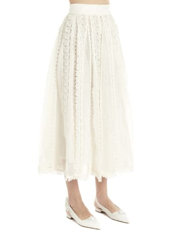 Zimmermann 'super Eight Butterfly' Skirt
