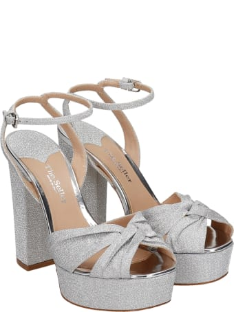The Seller Sandals In Silver Glitter
