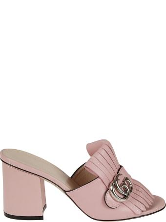 Gucci Block Heel Tassel Sandals