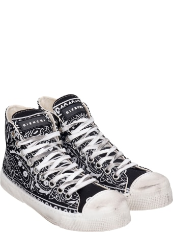 Gienchi J.m High Sneakers In Black Synthetic Fibers