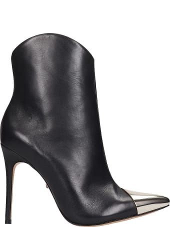 Schutz Ankle Boots In Black Leather