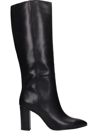 Bibi Lou High Heels Boots In Black Leather