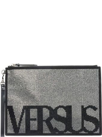 Versus Versace  Leather Clutch Handbag Bag Purse Vintage Logo