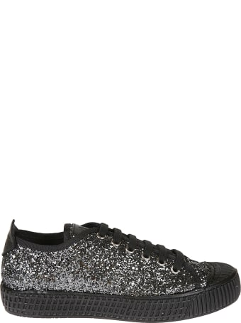 Car Shoe Glittery Low-up Laced Sneakers