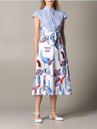 Stella Jean Dress Stella Jean Patterned Dress With Striped Bust