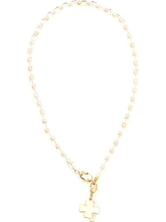 Timeless Pearly Four-leaf Clover Necklace