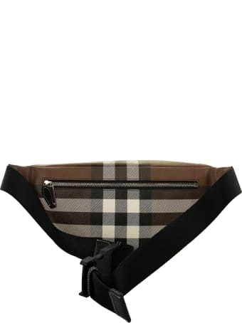 Burberry Check E-canvas Bum Bag Cason Dark Birch Brown