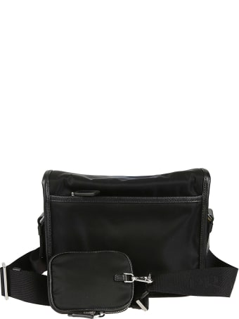 Prada Buckled Flap Shoulder Bag