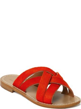 Emanuela Caruso Handmade Flat Cross Slipper