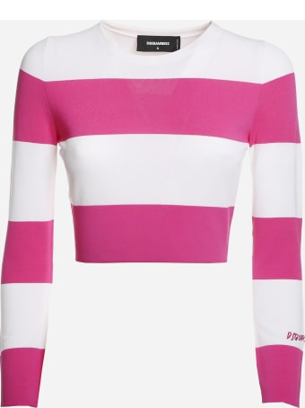 Dsquared2 Pullover With Horizontal Striped Pattern