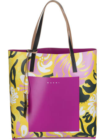 Marni Abstract-print Logo Tote Bag