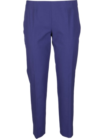 Piazza Sempione Blue Cotton Trousers