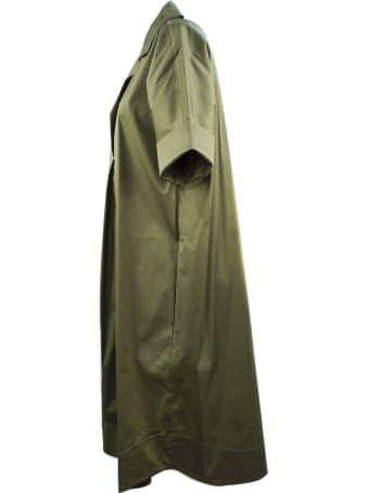 Antonelli Long Dress In Green Cotton