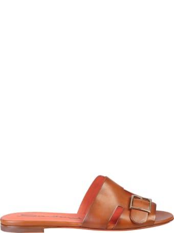 Santoni Buckle Insert Sandals