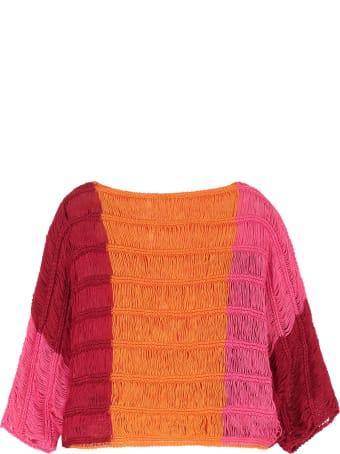 Alberta Ferretti Knitted Linen Top