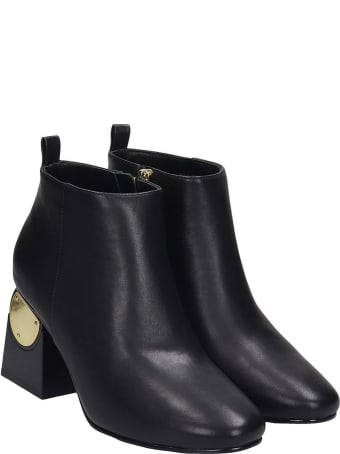 Kat Maconie Solange High Heels Ankle Boots In Black Leather