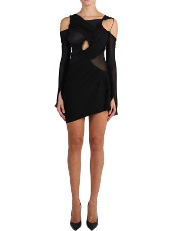Nensi Dojaka Black Cutout Dress