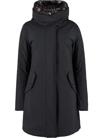 Woolrich Military Technical Fabric Parka With Internal Removable Down Jacket