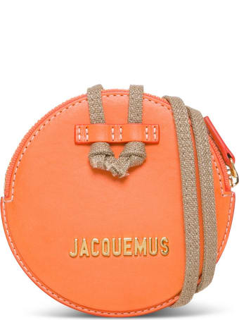 Jacquemus Le Pitchou Crossbody Bag In Orange Leather