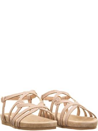 Alma en Pena Alma En Pena Beige Glitter Sandals