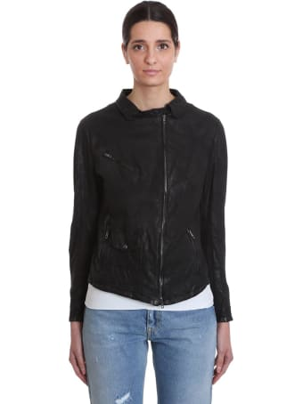 Salvatore Santoro Leather Jacket In Black Leather