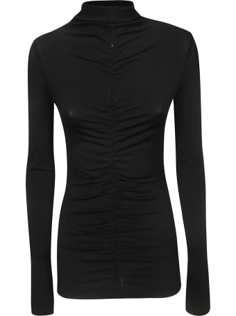 Proenza Schouler Long Sleeve Fitted Turtle Neck Top