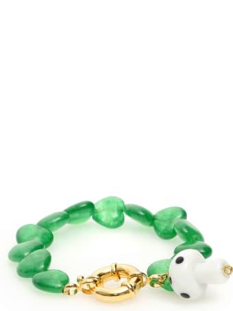 Timeless Pearly Hearts Bracelet
