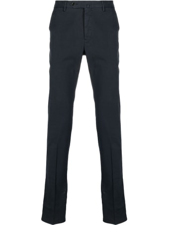 PT01 Blue Cotton Tailored Trousers