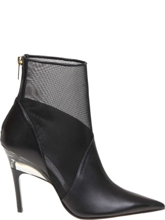 Jimmy Choo Boot Sioux 100 In Leather And Net