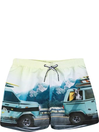 Molo Light Blue Teen Bermuda Shorts