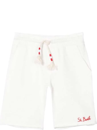 MC2 Saint Barth White Sports Shorts