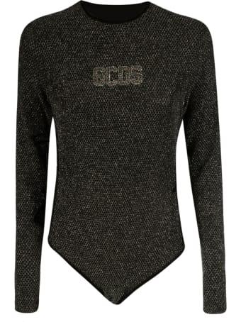 GCDS Logo Embellished Bodysuit