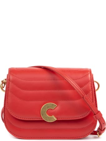 Coccinelle Craquante Red Leather Bag
