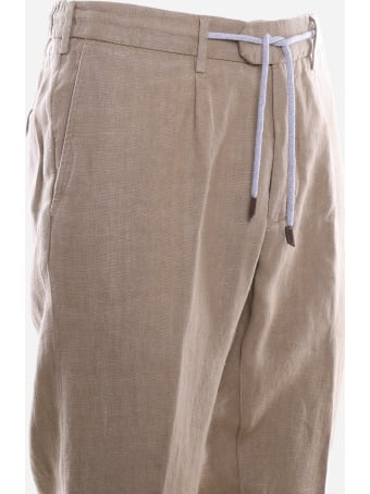 Eleventy Linen Trousers With Drawstring