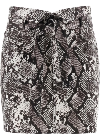 The Attico Python Print Mini Skirt