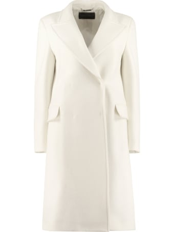 Alberta Ferretti Virgin Wool Double-breasted Coat