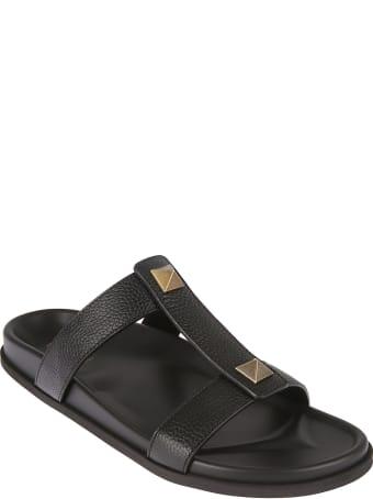 Valentino Garavani Stud Detail Flat Sandals