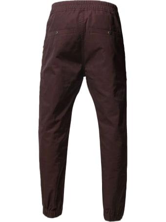Rick Owens Bordeaux Cotton-blend Trousers