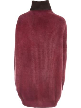 Avant Toi Oversized High Neck Bicolor Sweater