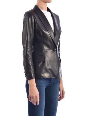 Germans Black Leather Blazer