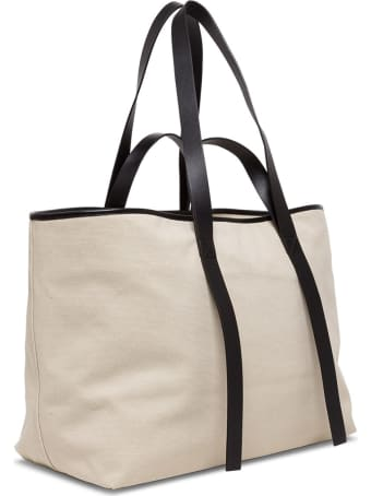 Off-White Tote Commercial Shopper In Canvas