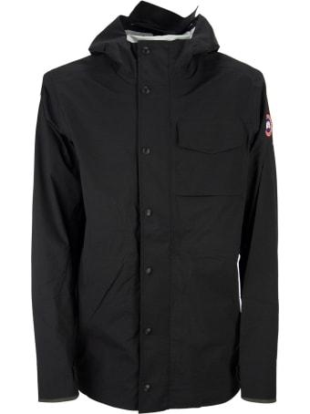 Canada Goose Men's Nanaimo Rain Jacket Fusion Fit Black