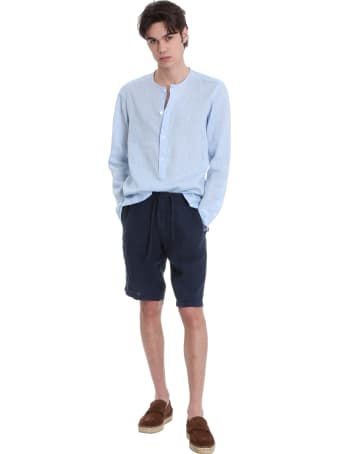 Z Zegna Shorts In Blue Triacetate