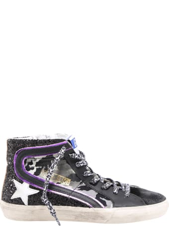 Golden Goose Superstar Glittered High-top Trainers